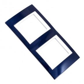 Ramki-instalacyjne - ramka uniwersalna dwukrotna pozioma błękit indygo mgu6.004.842 schneider unica viva