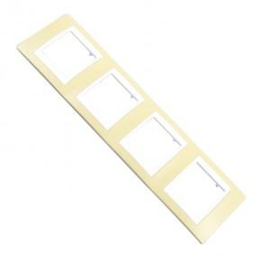 Ramki-instalacyjne - ramka na 4 włączniki pozioma zielona mgu6.008.865 (ru41v63m) zieleń oliwkowa unica viva