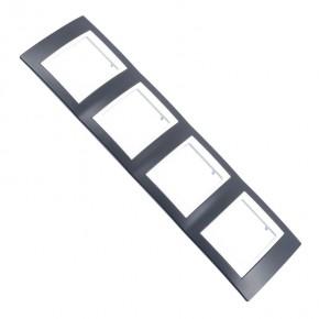 Ramki-instalacyjne - czarna ramka na gniazdka  4-krotna mgu6.008.877 czerń mineralna schneider unica viva