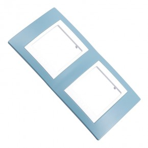 Ramki-instalacyjne - unica viva błękitna ramka na 2 gniazda v6.004.873 schneider electric