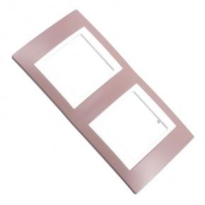 Ramki-instalacyjne - ramka podwójna  modny kolor wrzosowy róż viva v6.004.876 schneider electric unica viva