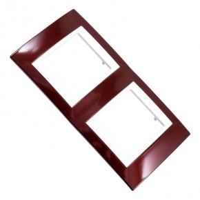 Ramki-instalacyjne - kolorowa ramka na gniazdka-lazur karminowy v6.004.851 schneider electric unica viva