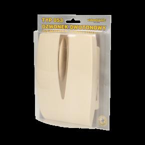 Dzwonki-do-drzwi-przewodowe - gong dwutonowy bim-bam 230v beżowy or-dp-vd-146/bg orno