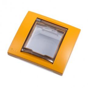 Ramki-instalacyjne - ramka pojedyncza na gniazdko ip44 - ugier pomarańczowy v61.002.869 unica viva