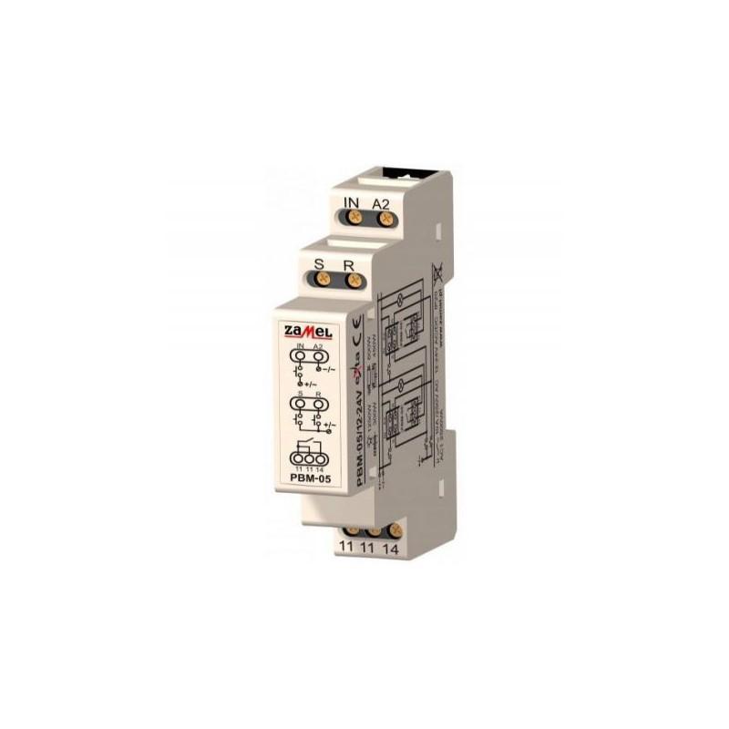 Przekazniki-bistabilne - przekaźnik bistabilny beznapięciowy 12-24v ac/dc pbm-05 zamel firmy ZAMEL