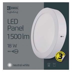 Plafony - oprawa led okrągła 18w ip20 neutralna biel emos - 1539053030