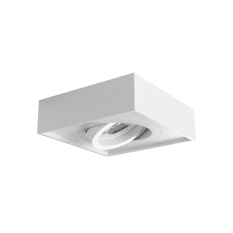 Oprawy-sufitowe - ruchoma kwadratowa oprawa sufitowa biała mini gord dlp-50-w kanlux firmy KANLUX