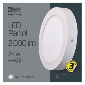 Plafony - oprawa led okrągła 24w ip20 neutralna biel emos - 1539053080