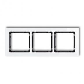 Biała/czarna potrójna ramka efekt szkła 0-12-DRS-3 DECO KARLIK