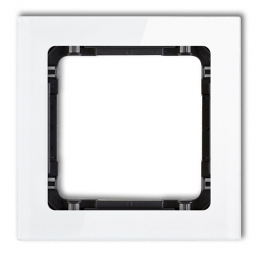Pojedyncza ramka biała/czarna z efektem szkła 0-12-DRS-1 DECO KARLIK