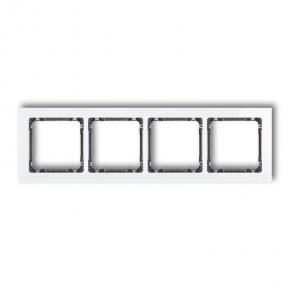 Ramka biała/grafit poczwórna z efektem szkła 0-11-DRS-4 DECO KARLIK