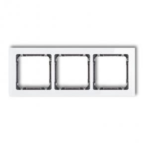 Potrójna ramka biała/grafit z efektem szkła 0-11-DRS-3 DECO KARLIK