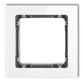 Pojedyncza ramka biała/grafit efekt szkła 0-11-DRS-1 DECO KARLIK