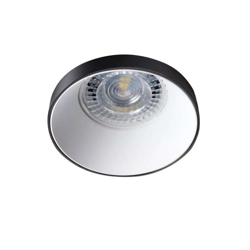 Oprawy-sufitowe - okrągła oprawa punktowa czarno-biała simen dso b/w kanlux firmy KANLUX