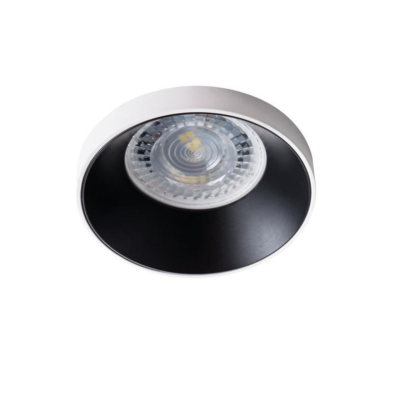 Oprawy-sufitowe - okrągła oprawa sufitowa biało-czarna gu10 max 35w simen dso w/b kanlux firmy KANLUX