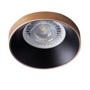 Oprawy-sufitowe - okrągła oprawa sufitowa złoto-czarna gu10 max 35w simen dso g/b kanlux