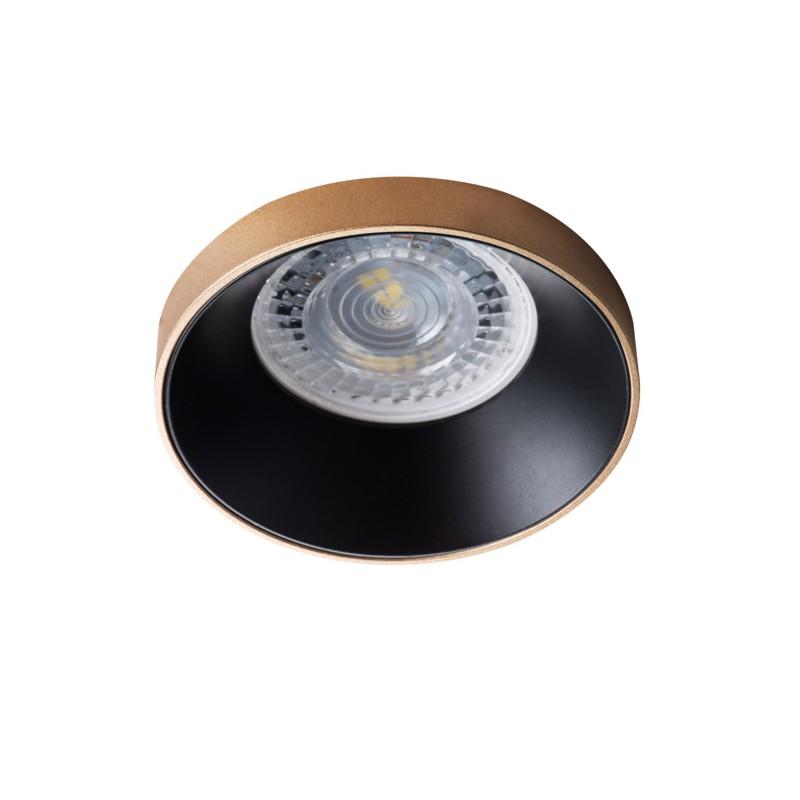 Oprawy-sufitowe - okrągła oprawa sufitowa złoto-czarna gu10 max 35w simen dso g/b kanlux firmy KANLUX