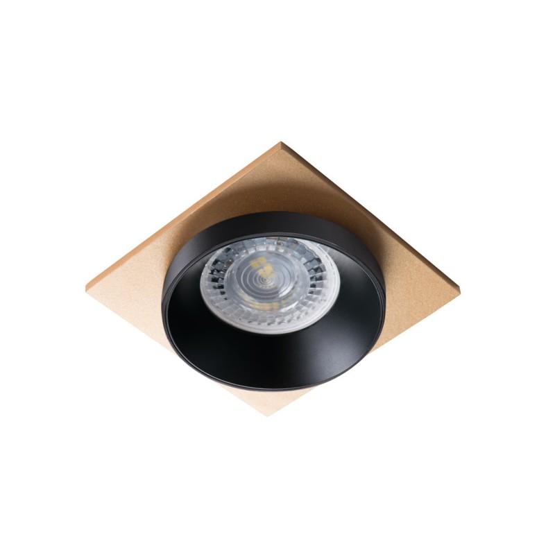 Oprawy-sufitowe - pierścień oprawy punktowej czarno-złoty simen dsl b/b/g kanlux firmy KANLUX
