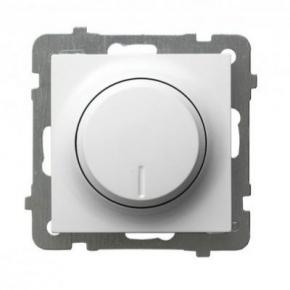 Biały ściemniacz przyciskowo-obrotowy ŁP-8G/m/00 AS OSPEL