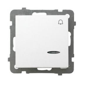 Przycisk dzwonkowy biały z podświetleniem ŁP-6GS/m/00 AS OSPEL