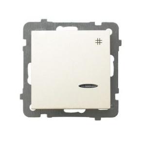 Wyłącznik krzyżowy ECRU z podświetleniem ŁP-4GS/m/27 AS OSPEL