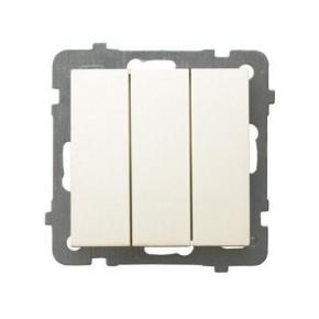 Potrójny włącznik ECRU ŁP-13G/m/27 AS OSPEL