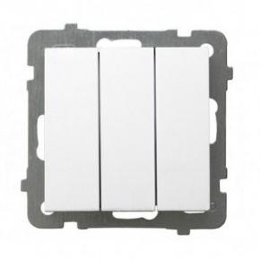 Biały potrójny włącznik ŁP-13G/m/00 AS OSPEL