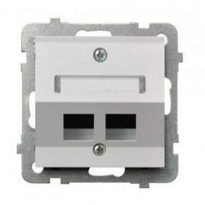 Biała obudowa do gniazda komputerowego skośna GPK-2GS/p/00 AS OSPEL