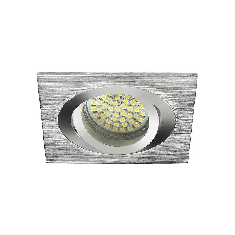 Oprawy-sufitowe - pojedyncza kwadratowa oprawa sufitowa gu10/mr16 max 50w seidy ct-dtl50-al kanlux firmy KANLUX