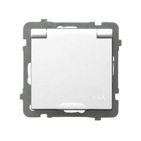 Białe gniazdo bryzgoszczelne z uziemieniem IP44 GPH-1GZ/m/00/w AS OSPEL
