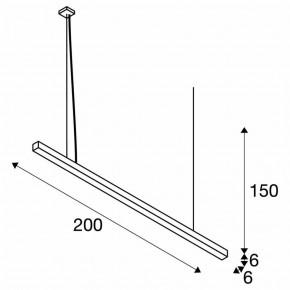 Lampy-sufitowe - lampa sufitowa wisząca szara 4000k 4600lm 200cm 85w q-line 1000937 spotline