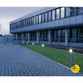 Lampy-ogrodowe-stojace - nowoczesny słupek ogrodowy rox acryl 90 led 3000k 800lm stal szlachetna spotline