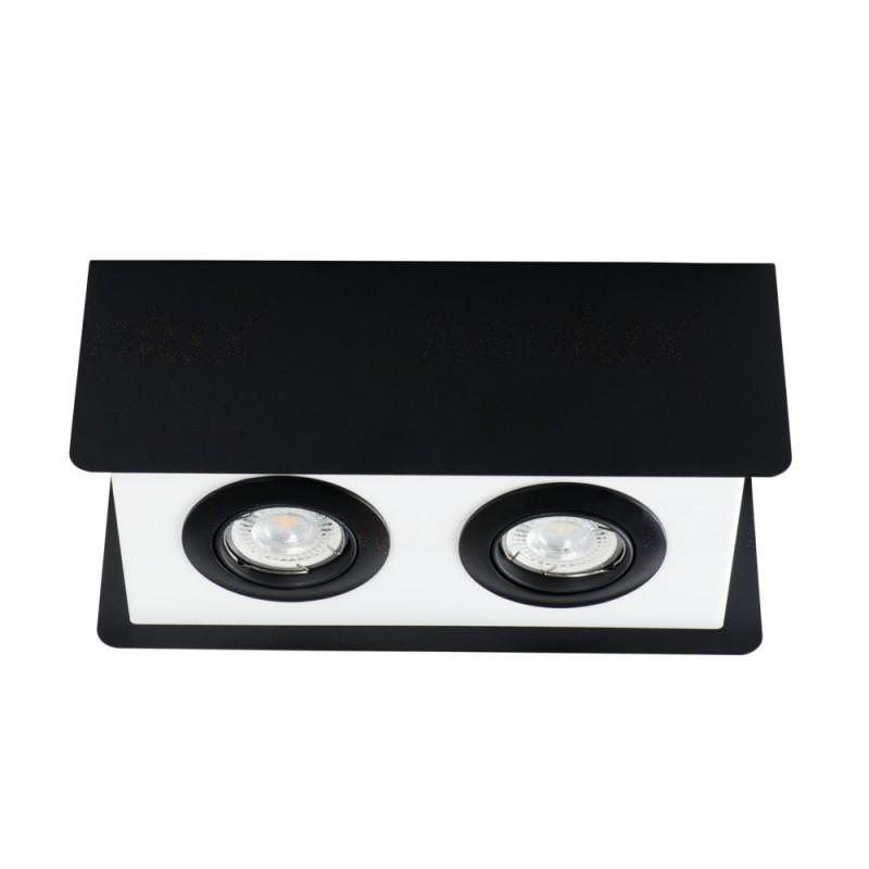 Oprawy-sufitowe - podwójne oświetlenie sufitowe natynkowe 2xgu10 torim dlp-250 b-w kanlux firmy KANLUX