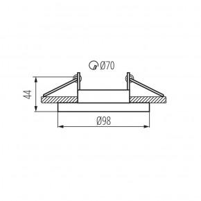 Oprawy-sufitowe - punktowa oprawa sufitowa gu10 elnis s w kanlux