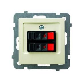 Gniazdo głośnikowe ECRU GG-2G/m/27 AS OSPEL