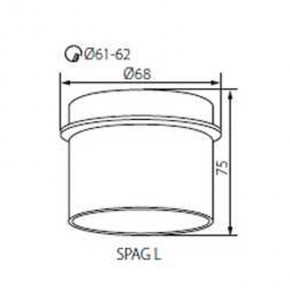 Oprawy-sufitowe - natynkowa oprawa sufitowa gu10/mr16 czarno-złota spag l b/g kanlux