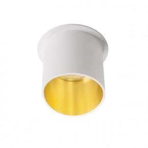 Oprawy-sufitowe - natynkowa oprawa sufitowa gu10/mr16 biało-złota spag l w/g kanlux