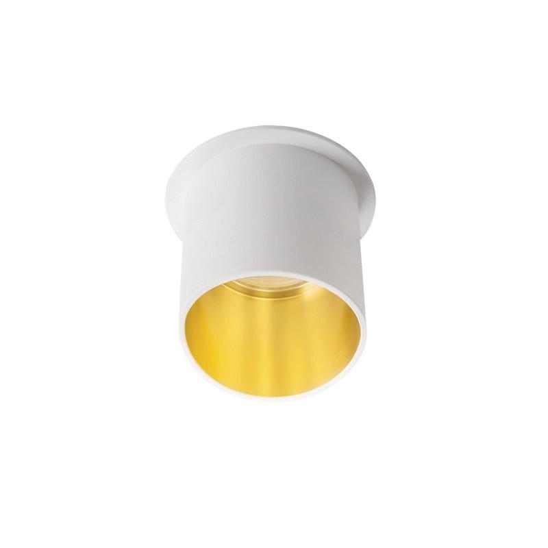 Oprawy-sufitowe - natynkowa oprawa sufitowa gu10/mr16 biało-złota spag l w/g kanlux firmy KANLUX