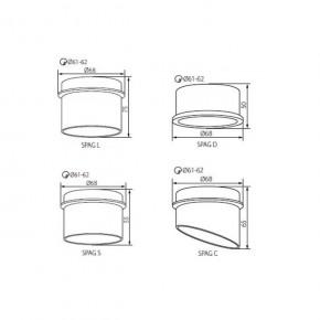 Oprawy-sufitowe - dekoracyjny pierścień sufitowy czarno-złoty gu10/mr16 spag s b/g kanlux
