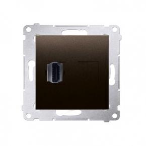 Gniazdo HDMI pojedyncze brąz mat DGHDMI.01/46 Simon 54 Kontakt-Simon