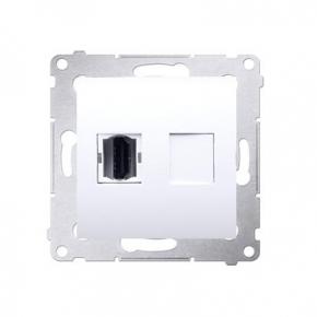 Białe gniazdo HDMI pojedyncze DGHDMI.01/11 Simon 54 Kontakt-Simon