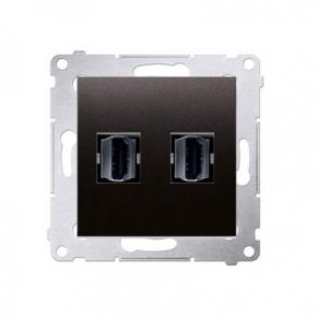 Podwójne gniazdo HDMI antracyt DGHDMI2.01/48 Simon 54 Kontakt-Simon