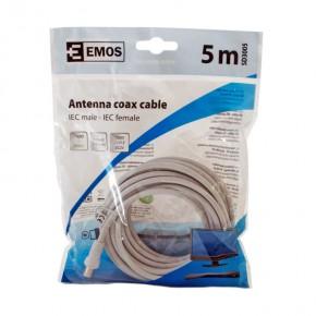 Kable-antenowe - przewód abonencki ekranowany prosty 5m emos - 2334130050