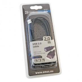 Kable-usb - przewód usb 2.0 wtyk a - wtyk micro b, 2m emos - 2333174020