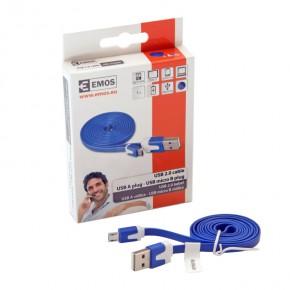 Kable-usb - niebieski kabelek usb 2.0  do ładowania telefonu wtyk a - micro b sm7001b emos