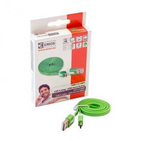 Kable-usb - zielony metrowy kabel usb do ładowania telefonu 2.0 wtyk a-micro b sm7001g