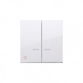 Klawisz podwójny do łączników i przycisków podświetlanych antybakteryjny biały DKW5L/AB11 Simon 54 Kontakt-Simon