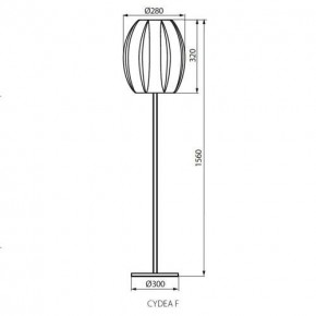 Lampy-stojace - lampa podłogowa biała e27 cydea f kanlux