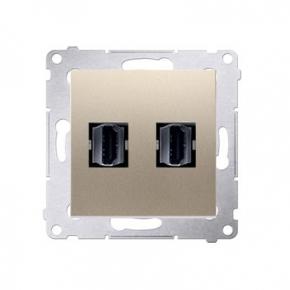 Gniazdo HDMI podwójne złote DGHDMI2.01/44 Simon 54 Kontakt-Simon