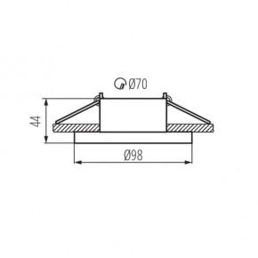 Oprawy-sufitowe - natynkowa oprawa sufitowa antracyt/chrom mr16 elnis l a/c kanlux